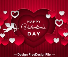 Design elements Valentine card vector