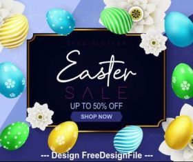 Discount flyer easter vector