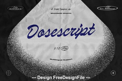Dosescript font