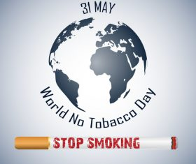 Earth and quit tobacco poster vector