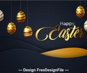 Easter card background vector