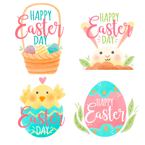 Easter cover vector