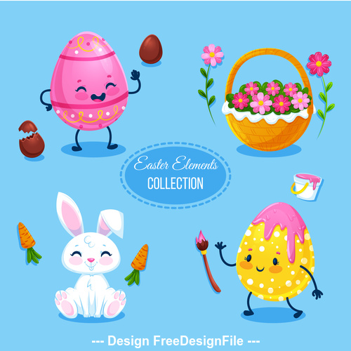Easter design collection elements vector