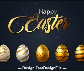 Easter egg background card vector