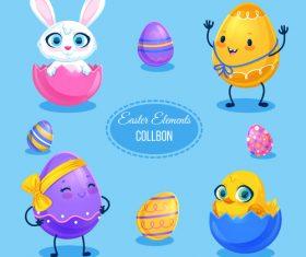 Easter egg design elements vector