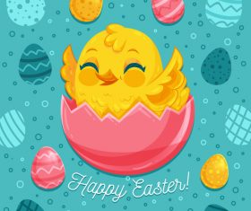 Easter egg illustration vector