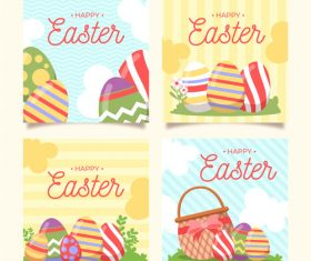 Easter egg pattern banner vector