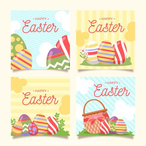 Easter egg pattern banner vector