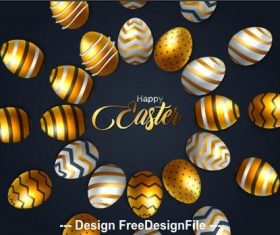 Easter eggs in a circle background card vector
