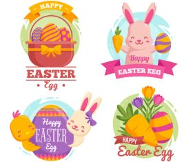 Easter element illustration vector
