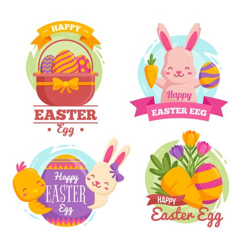 Easter element illustration vector