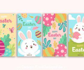 Easter greeting card design banner vector