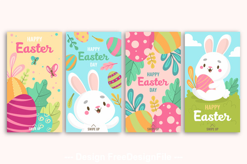 Easter greeting card design banner vector