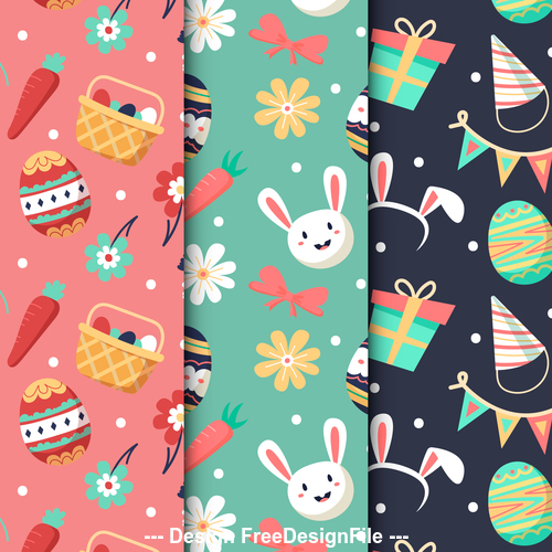 Easter pattern banner vector