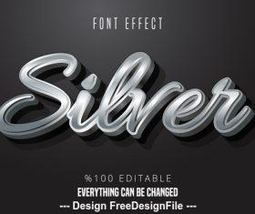 Editable text effect 3d font vector