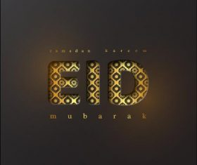 Eid Mubarak happy illustrations vector