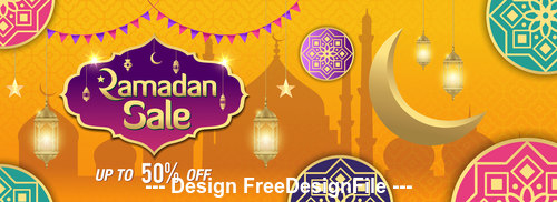 Eid Mubarak holiday promotion vector