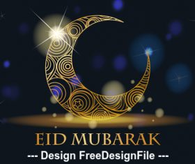 Eid Mubarak muslim tradition culture background vector