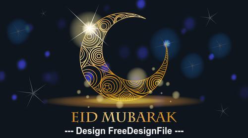 Eid Mubarak muslim tradition culture background vector