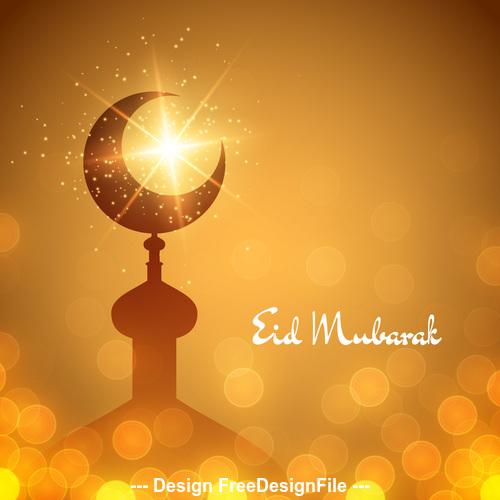 Eid mubarak holiday background vector