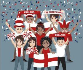 England fan club vector