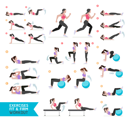 Exercises fit icon vector