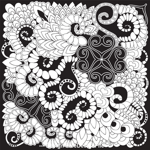 Exquisite black floral background pattern vector