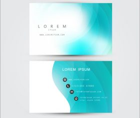 Exquisite business card template design vector
