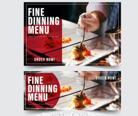 FIne dining menu picture vector