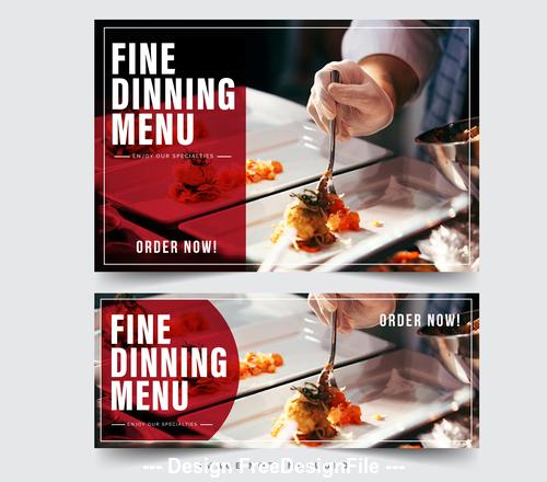 FIne dining menu picture vector
