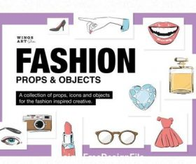 Fashion Props illustration set