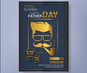 Fathers day sale poster vector