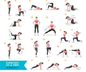 Female leg exercise icon vector