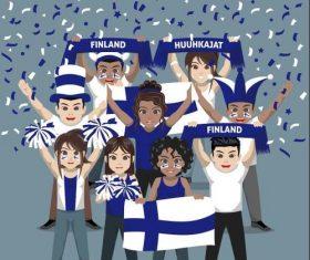 Finland fan club vector