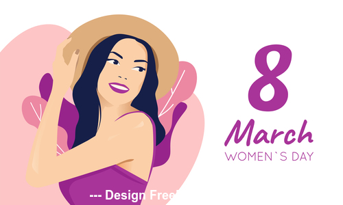 Flat design March 8 Womens Day vector