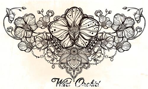 Flower hand drawn decorative pattern vector