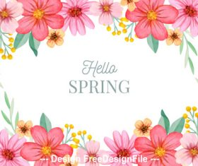 Flower spring card vector