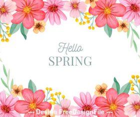 Flower spring card vector