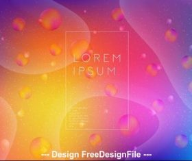 Fluid gradient abstract background vector