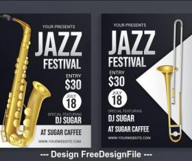 Flyer jazz festival vector