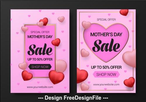 Flyer mothers day sale vector