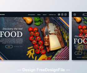 Food cover vector design template