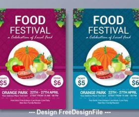 Food festival poster vector