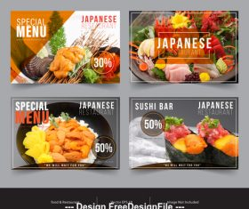 Food promotion image flyer vector
