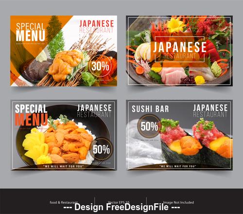Food promotion image flyer vector