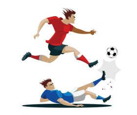 Football cartoon illustration vector