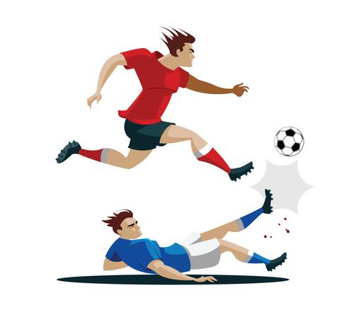 Football cartoon illustration vector