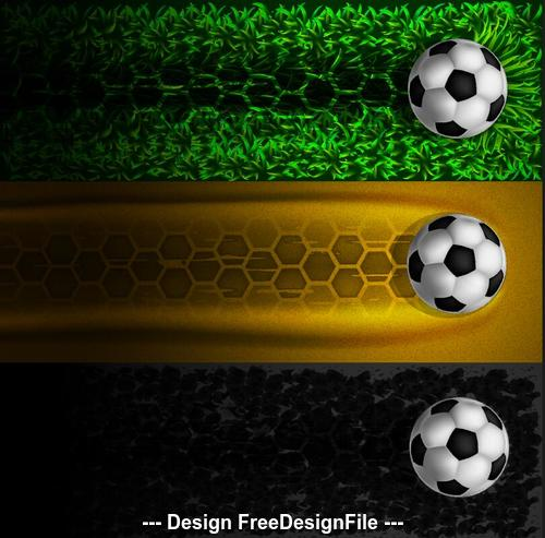 Football with abstract banners vector