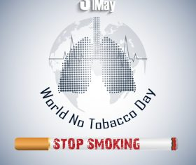 For your lungs quit smoking poster vector
