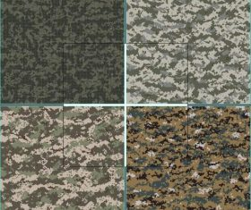 Four camouflage seamless pattern vector